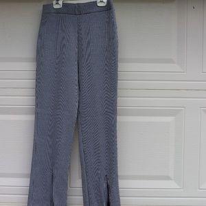 Zara Black and white striped flared pants
